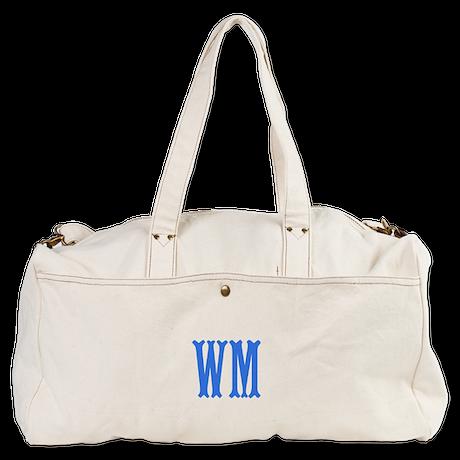 Custom Initials in Blue. Duffel Bag