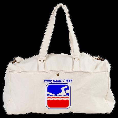 Custom Swimming League Logo Duffel Bag