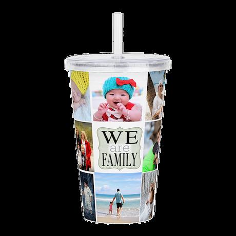 Custom Family Photo Collage Acrylic Double-wall Tu