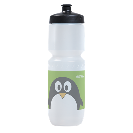 Penguin Cartoon wit... Sports Bottle by MarshEnterprises