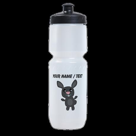Custom Grey Bunny Sports Bottle