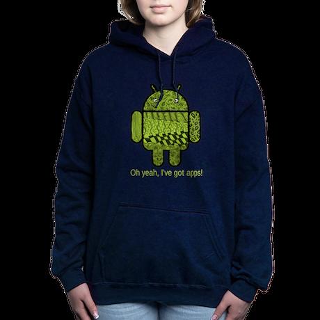 Paisley Doodle Character Women's Hooded Sweatshirt