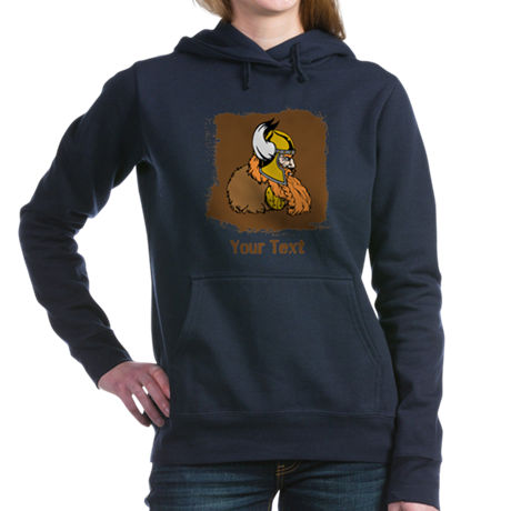 Viking with Custom Text. Hooded Sweatshirt