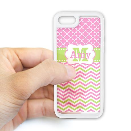 Pink Green Chevron Quatrefoil Iphone 5c Case
