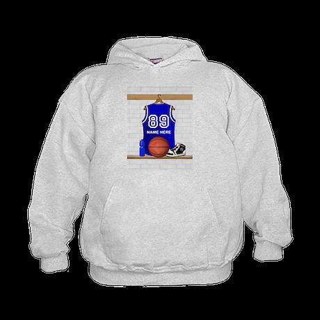 Personalized Basketball Jerse Kids Hoodie