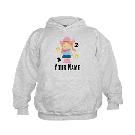 Personalized 2nd Birthday Cowgirl Kids Hoodie