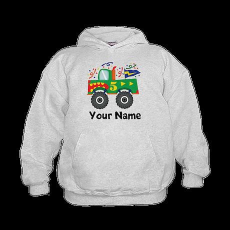 Personalized 5th Birthday Monster Truck Kids Hoodi