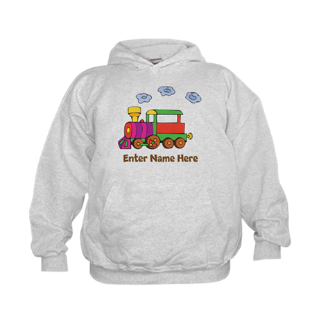 Personalized Train Engine Kids Hoodie