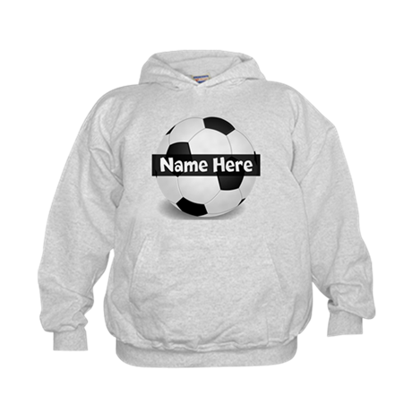 Personalized Soccer Ball Kids Hoodie