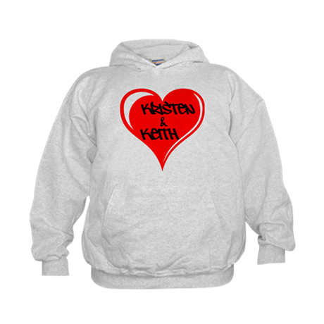 Personalized with names Valentines day heart Kids