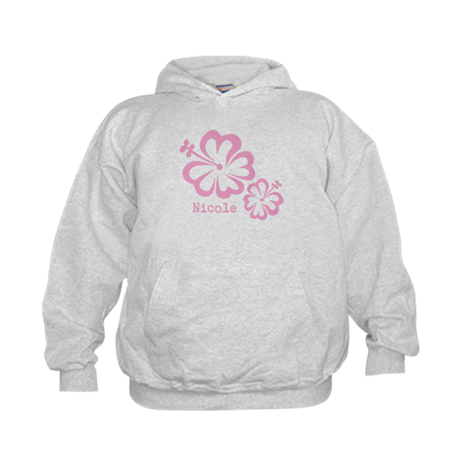 Customized (add your name) Hibiscus Print Hoody