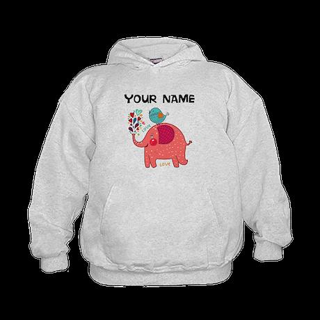Custom Pink Elephant Hoodie