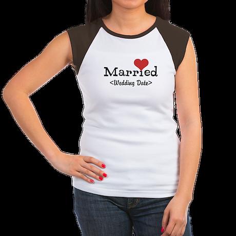 Married (Add Your Wedding Date) Women's Cap Sleeve