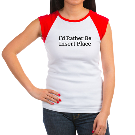 I'd Rather Be Women's Cap Sleeve T-Shirt