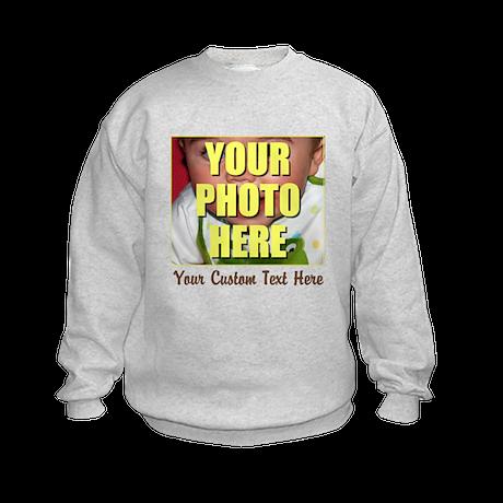 Custom Photo and Text Kids Sweatshirt