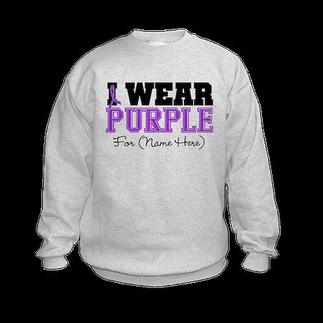 Custom Pancreatic Cancer Kids Sweatshirt