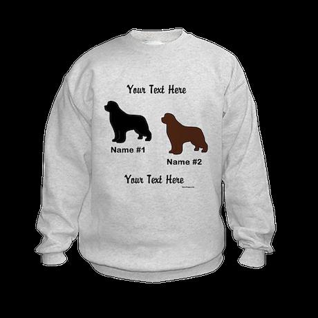 1 Black & 1 Brown Newf Kids Sweatshirt
