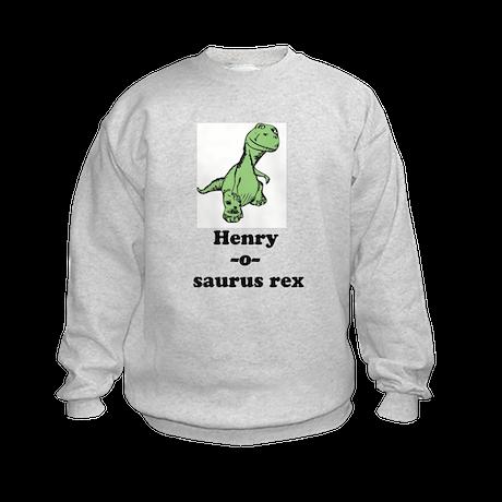 Name - Dinosaur Kids Sweatshirt