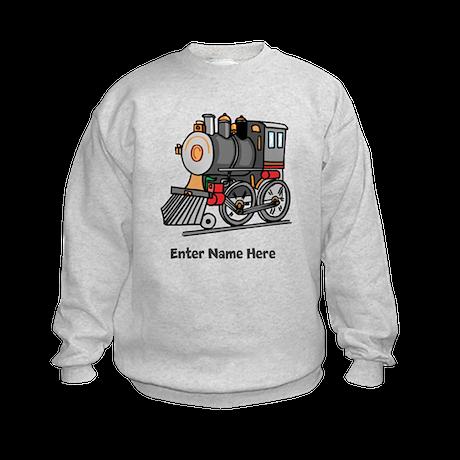 Personalized Train Engine Kids Sweatshirt