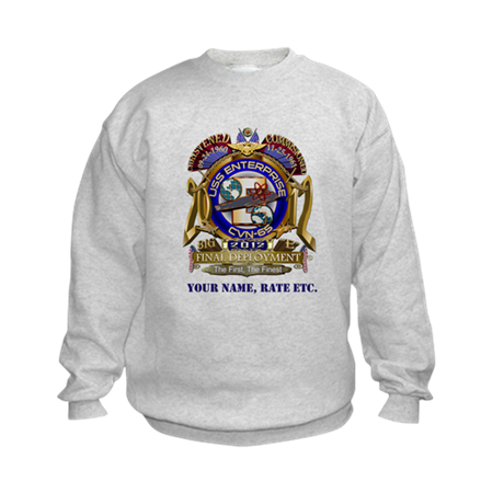 USS Enterprise CVN-65 Final Voyage Kids Sweatshirt