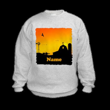 Sunrise at the Farm Kids Sweatshirt