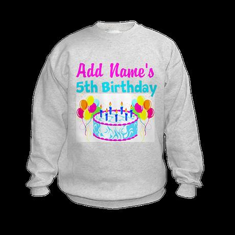 HAPPY 5TH BIRTHDAY Kids Sweatshirt