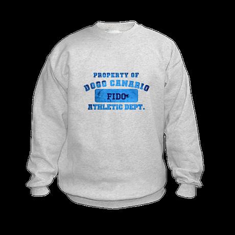 Personalized Property of Dogo Canario Kids Sweatsh
