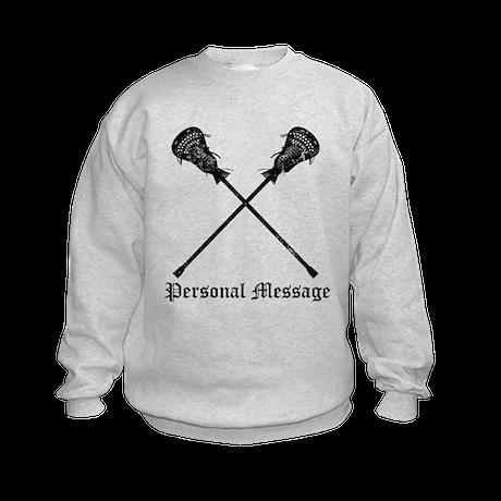Personalized Lacrosse Sticks Kids Sweatshirt
