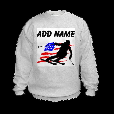 I LOVE SKIING Kids Sweatshirt