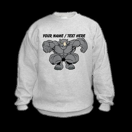 Custom Rhino Mascot Sweatshirt