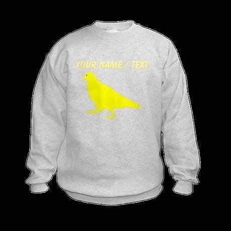 Custom Yellow Pigeon Silhouette Sweatshirt