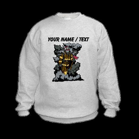 Custom Firefighter In Smoke Sweatshirt