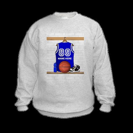 Personalized Basketball Jerse Kids Sweatshirt