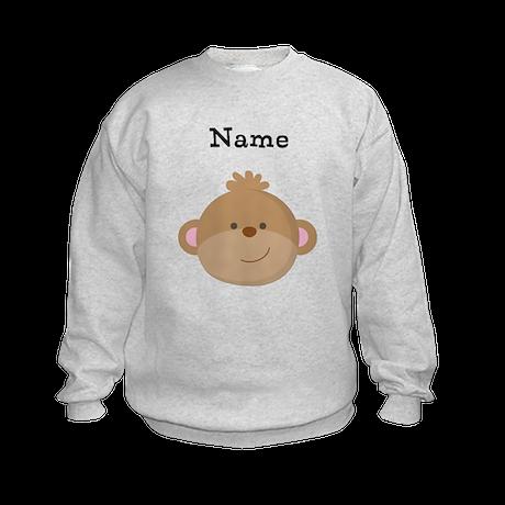 Personalized Monkey Kids Sweatshirt