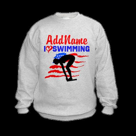 SWIMMER GIRL Kids Sweatshirt
