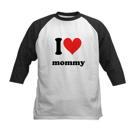 I Heart Mommy Kids Baseball Jersey