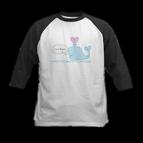 Cute Whale Kids Baseball Jersey