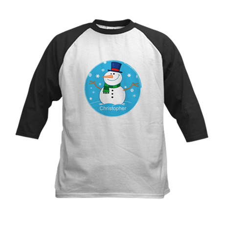 Cute Personalized Snowman Xmas gift Kids Baseball