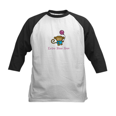 Personalized Monkey Kids Baseball Jersey