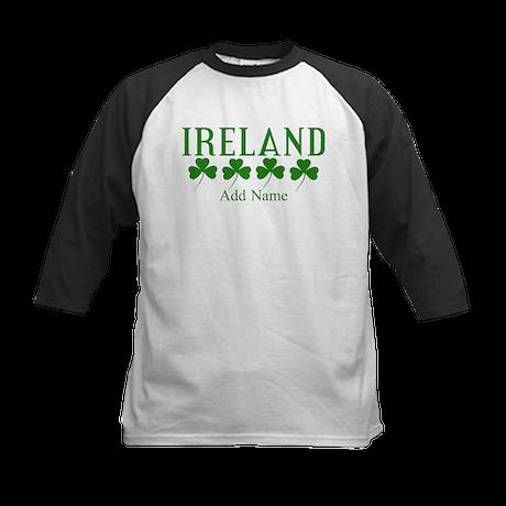 Lucky Irish Shamrocks Baseball Jersey