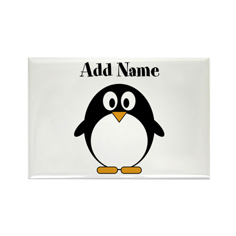 Add Name Modern Penguin Magnets