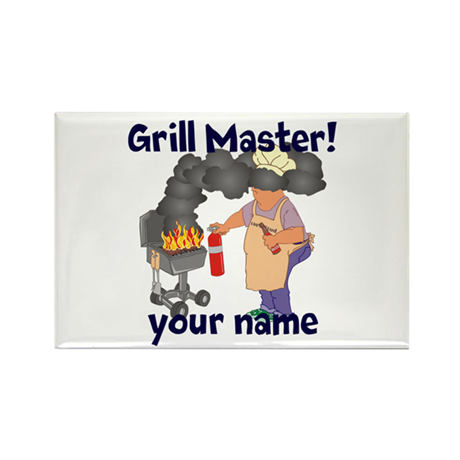 Personalized Grill Master Rectangle Magnet