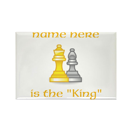 Personlized King Shirt Rectangle Magnet