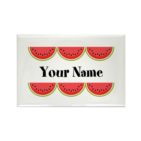 Watermelons Personalized Rectangle Magnet