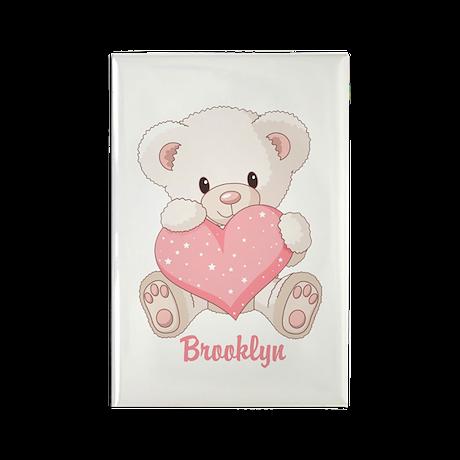 Custom name valentine bear Rectangle Magnet