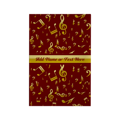 Personalized Red and gold musical notes Designer R