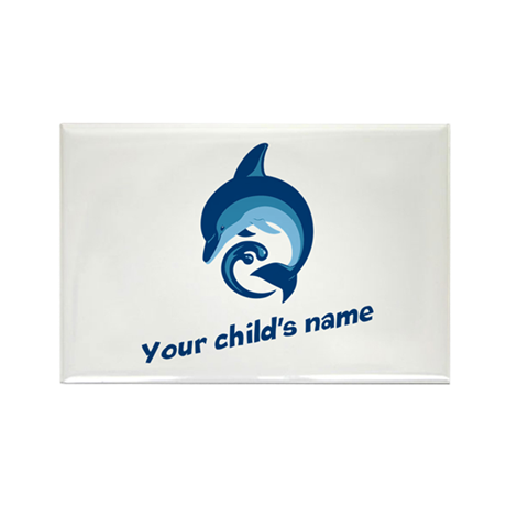 Dolphin Personalized Rectangle Magnet (10 pack)