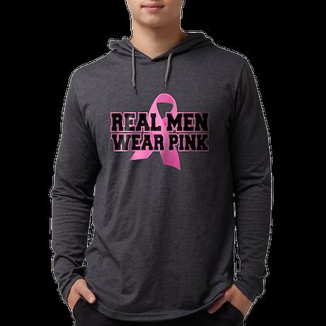 Real Men Wear Pink Mens Hooded Shirt