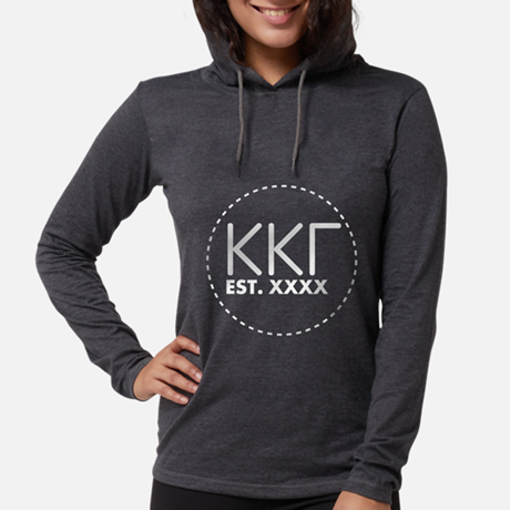 Kappa Kappa Gamma Circle Womens Hooded T-shirt