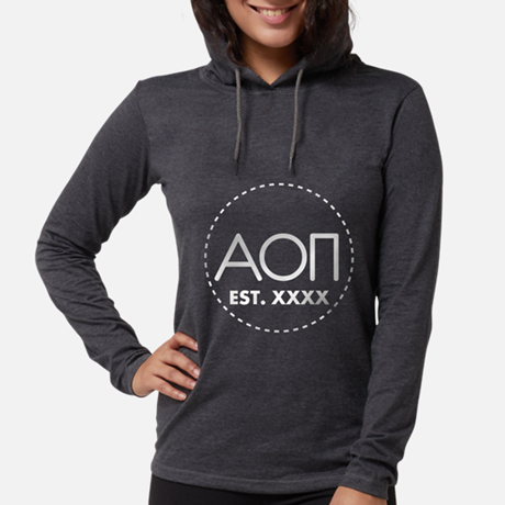 Alpha Omicron Pi Circle Womens Hooded T-shirt